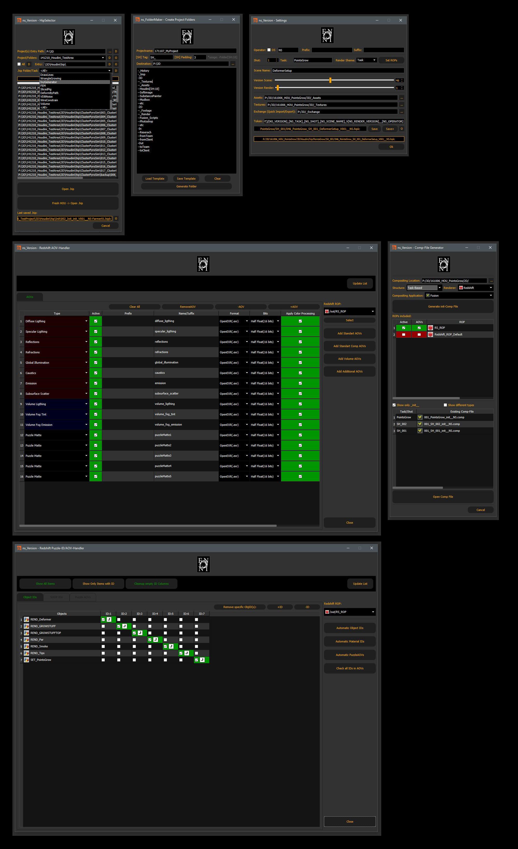 Scripting/Tools/Workflow Houdini | enoni de